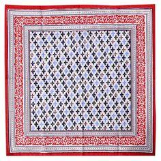 Me gustó este producto Mica Set de servilletas borde azul rojo  40 x 40 cm. ¡Lo quiero!