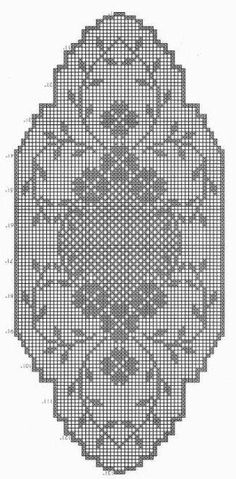 World crochet: Tablecloth 4 Filet Crochet Charts, Crochet Cross, Crochet Art, Crochet Home, Crochet Table Runner Pattern, Crochet Doily Patterns, Crochet Motif, Crochet Doilies, Crochet Sunflower