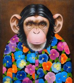 "Liene Liepiņa ""One of Friends"", oil on canvas, size: 42 x 37 cm, year of 2013."