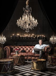 """British furniture designer Timothy Oulton credits mastering the art of """"humble luxury"""" as the key to his success. Interior Styling, Interior Decorating, Interior Design, Gothic Interior, Cigar Lounge Decor, Cigar Lounge Man Cave, Zigarren Lounges, Cigar Room, Luxury Marketing"""