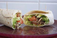 receta de wraps rellenos de champiñones Ale, Sandwiches, Mexican, Nutrition, Wraps, Cooking, Healthy, Ethnic Recipes, Recetas Light