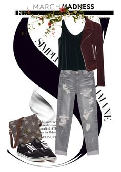 """""""March Madness: High Tops"""" by andrejae ❤ liked on Polyvore featuring One Teaspoon, Vans, MANGO, Balenciaga and hightops"""