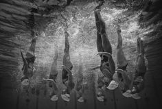 West Coast Splash (Western Australia) compete during the Tech Team Final in the Synchronised Swimming National Championships at Sydney Olympic Park Aquatic Centre Photograph: Ryan Piers