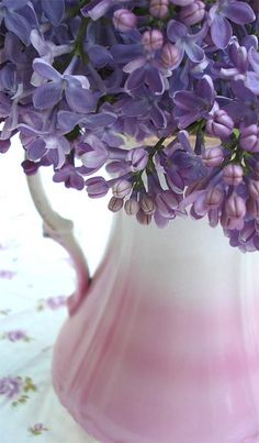 Lilacs in Pink Vase by such pretty things, via Flickr