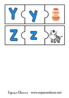 JOGO PEDAGÓGICO EDUCATIVO DE ALFABETIZAÇÃO PARA IMPRIMIR COLORIDO - SOM INICIAL ALFABETO - ESPAÇO EDUCAR Spanish Vocabulary, Busy Book, Games For Kids, Children Games, Toddler Activities, Brittany, Worksheets, Alphabet, Homeschool