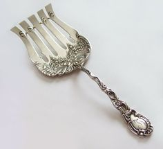 Durgin Louis XV Sterling Silver Asparagus Fork by EDennis on Etsy