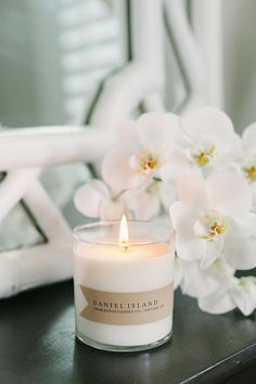 It's a rainy day here in Charleston, which means the perfect day to cozy up with a good book and a great candle. Relax with our Daniel Island candle featuring a luxurious blend of orchid and jasmine with a touch of sea salt. Soy Wax Candles, Diy Candles, Scented Candles, Candle Jars, Daniel Island, Photo Candles, Glass Containers, Fragrance, Sea Salt