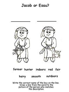 Jacob and Esau Matching Activity