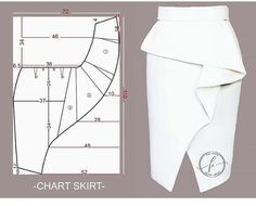 Skirt Patterns Sewing, Clothing Patterns, Coat Patterns, Blouse Patterns, Diy Clothing, Sewing Clothes, Barbie Clothes, Circle Skirt Pattern, Sewing Collars