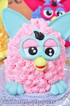 เฟอร์บี้เค้ก Furby Cake  FoodTraveltv cakepins.com