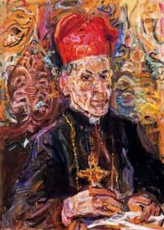 Le cardinal Della Costa,  par Oskar Kokoschka