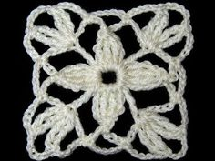 Crochet : Union Motivo Flores Entrelazadas - YouTube