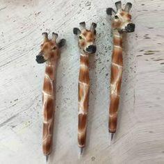 Hot Sale Creative Office School Supplies Animals Giraffe Shape Resin Ballpoint Pen (LIGHT BROWN) | Sammydress.com Mobile