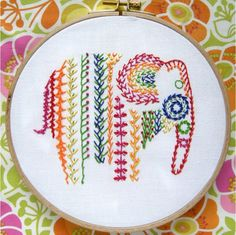 EMBROIDERY STITCHES Contemporary needle craft designer, the Stitchsmith brings fresh, new designs for needlepoint cushion kits, cross stitch, embroidery kits and patterns.Too Cute Tuesday - Knotted Feather Stitch Elephant sampler by the stitchsmithNo Embroidery Designs, Embroidery Sampler, Cross Stitch Embroidery, Cross Stitch Patterns, Machine Embroidery, Beginner Embroidery, Ribbon Embroidery, Simple Embroidery, Hand Embroidery Patterns Free