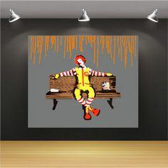 Banksy 麥當勞 塗鴉 創意 居家 潮流 無框畫 80cm x 100cm 共2色 - Yahoo! 奇摩拍賣
