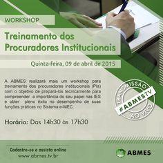 Folder para workshop na ABMES