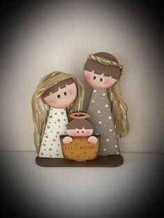 Christmas Wood Crafts, Christmas Canvas, Christmas Nativity, Christmas Paintings, Christmas Design, Christmas Themes, Holiday Crafts, Christmas Holidays, Christmas Decorations