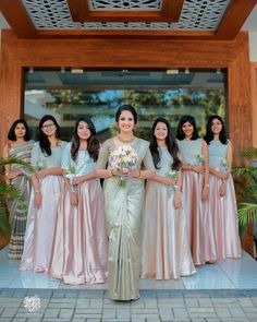 Best South Indian Brides Of 2019 We Came Across! - ShaadiWish Indian Wedding Planner - Best South Indian Brides Of 2019 We Came Across! Best South Indian Brides Of 2019 We Came Across! Indian Bridesmaid Dresses, Bridesmaid Saree, Indian Gowns Dresses, Bridesmaid Outfit, Wedding Dresses, Wedding Outfits, Wedding Bridesmaids, Christian Wedding Sarees, Christian Bride