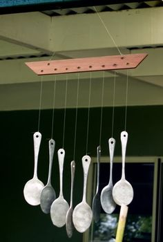 spoon wind-chimes! :D - HOME SWEET HOME - Knitting, sewing, paper crafts, jewelry, swaps, tutorials of all kinds, crochet, glass crafts and so much more on Craftster.org