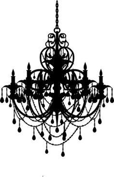 Chandelier decal