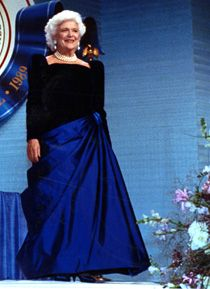 Gown that Barbara Bush wore to the Inaguration in 1989.