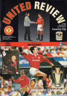 8 May 1994 v Manchester United Drew Manchester United Old Trafford, Coventry City Fc, Man United, Champion, The Unit, Football, Seasons, Club, Baseball Cards