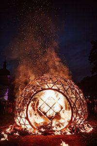 Fire sculpture by Jordi NN
