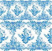 Blue floral Vektor ornament — Stockvektor