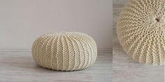 Pletený puf by bodkafashion - SAShE.sk - Handmade Úžitkový textil