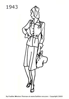 1943 suit silhouet