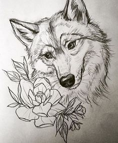 Sketches of wolves • Significance of a tattoo with a wolf