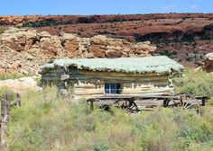 Wolfe Ranch, Wolfe Cabin, Arches National Park, Utah, September 24, 2007 (pinned by haw-creek.com)