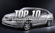 Not all cars are created equally and as a result, some cost significantly more to maintain than others. See a list of the top 10 most expensive cars to maintain over 10 years here.