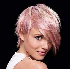 Für eine sanfte und liebenswürdige Ausstrahlung: eine Mischung an 10 sehr verschiedenen Kurzhaarschnitten in sanften Pastellfarben! - Neue Frisur