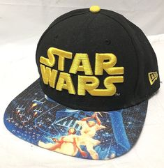 82b5fa72323 Gently Preowned Star Wars 9 Fifty Ball Cap Snap Back with wide Brim.