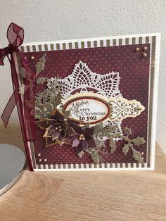Christmas card - MME paper and Prima + Spellbinder dies