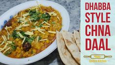 A very easy recipe to enjoy same taste of dhaba style chana daal by Lightly spiced with aromatic tarka on top makes this dish simply irresis. Daal, New Recipes, Curry, Spices, Easy Meals, Dishes, Ethnic Recipes, Kitchen, How To Make