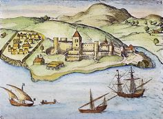 Forts were built to protect the ports the the Portuguese had reached.