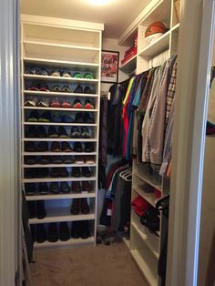 Shoe Shelves Custom Closets Closet Ideas Organization Walk In Organizers Husband Robe Planners Shoes Organizer