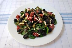 Oh Cake: Grilled Pork and Spinach Salad with Blackberries