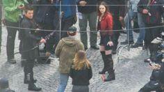 Hawkeye and Scarlett Witch in Avengers 2