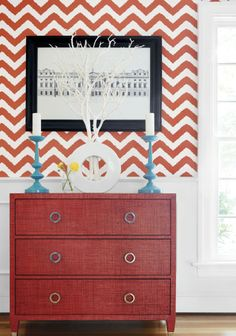 Nice size chevron from new Thibaut book Graphic Resource. I like the wallpaper!