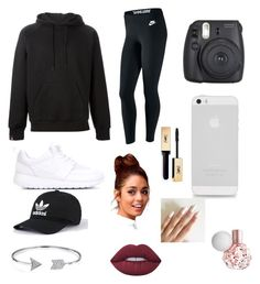 """""""Easy day"""" by emmaraej on Polyvore featuring NIKE, SWEAR, Bling Jewelry, Lime Crime and Yves Saint Laurent"""