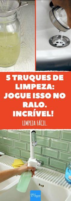 5 dicas para você poderá eliminar a sujeira em um piscar de olhos. #limpeza #casa #banheiro #cozinha #organizacao #dyi #limpo #sagaz #dicasuteis #dicas #truques