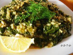 Το Ελληνικό Χρέος στη Γαστρονομία: Σπανακόρυζο και σπανακοφιλοσοφίες Seaweed Salad, Sprouts, Risotto, Vegan Recipes, Vegetables, Ethnic Recipes, Debt, Greek, Food