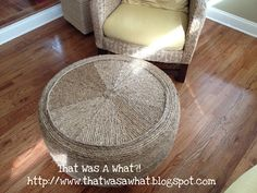 The original tire ottoman....  That Was A What?!: Another Tire Saved from the Landfill