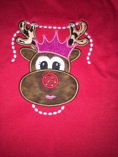 #reindeergirl #reindeer #pearls #crown #queen #rednose