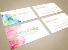 Gold foil business cards with a silky matte finish. Very smooth and lush to the touch. These standard-size business cards (2 x 3.5) are printed on