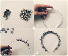 DIY Floral Studded Headband