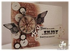Such a cool Steampunk style card!